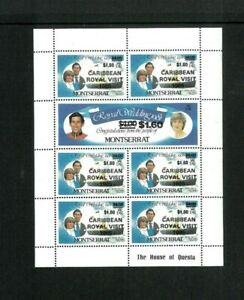 Wholesale Lot Montserrat #'s 578x6 & 579x1 Mini Sheet of 7. Cat. 465.00(10x46.50