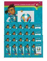 Panini - EURO 2020 Sticker Preview - Sammelsticker - Leeralbum + 20 Sticker