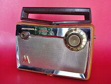 1957 Motorola 700 Ranger Vacuum Tube Rotating BAKELITE Antenna Portable AM Radio
