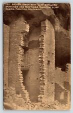Broken Tower Cliff Dwellers Phantom Cliff Canon Manitou, Colorado Postcard