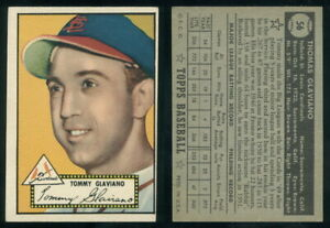 (69415) 1952 Topps 56 Tommy Glaviano Black Back Cardinals-EX