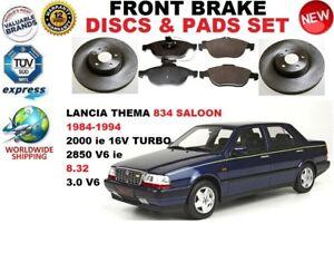 FOR LANCIA THEMA SALOON 834 1989-1994 FRONT BRAKE DISCS SET + BRAKE PADS KIT