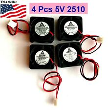 4Pcs GDStime 5V 2Pin 2510 25x25x10mm  5Blade Mini Small DC Brushless Cooling Fan