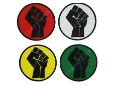 Black Power Fist Embroidered Sew/Iron On Patch Black Lives Matter Hook & Loop