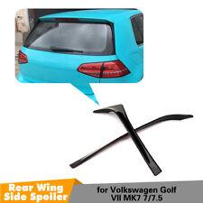 2PCS Rear Window Side Spoiler Wing Tirm Cover For VW GOLF 7 7.5 MK7 MK7.5 14-18