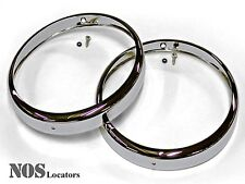 MGTF, MGA, Bugeye Sprite Chromed Headlight Rims w/Chrome Rivet - SALE