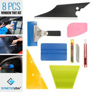 8 PCS Pro Car Window Tint Kits Wrapping Vinyl Tools Squeegee Scraper Applicator