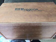 Vintage Mega Bloks Dragons Krystal Wars Wooden Toy Box Chest