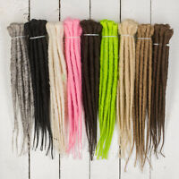 DreadLab - Short Single Ended Synthetic Dreadlocks (Pack of 10) Extensions 30 cm