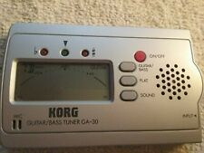 Korg Guitar or Bass Tuner Model Ga-30 Works Great not used but no box see pic.