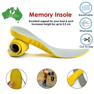 Memory Foam Insoles Inner Sole Heel Unisex For Boot and New Shoe Height Increase