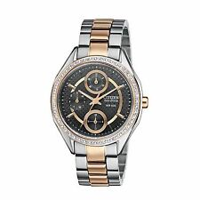 Citizen Eco-Drive Women's FD1066-59H POV Crystal Accents Two-Tone 34.5mm Watch
