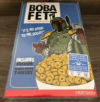 Boba Fett Cereal Box T-Shirt Star Wars Limited Exclusive Size Small Funko