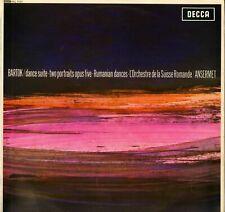 """ERNEST ANSERMET, BARTOK """"DANCE SUITE"""" 60'S LP DECCA SXL 6121 STEREO"""