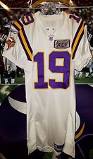 TROY WILLIAMSON #19 MINNESOTA VIKINGS AUTOGRAHED GAME USED JERSEY 2005 SIZE 46