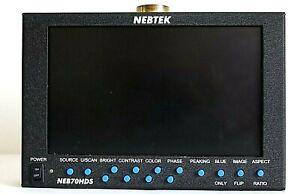 """Nebtek NEB70HD 7"""" LCD HD monitor + power supply"""