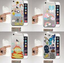 Cubierta para ,IPHONE, Pegatinas, Silicone, Suave, Transparente, Niñas, Pastel,