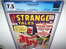 Strange Tales 115 Cgc 7.5 White Pgs 1st Origin Dr. Strange /2nd App. Sandman MCU