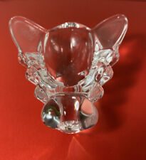 Vintage Glass Figural Bee Pipe Holder Dish Crystal White