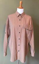 Ruff Hewn Men's Size Large Brown Long Sleeve Vented Shirt Hike Fish Outdoor Wear