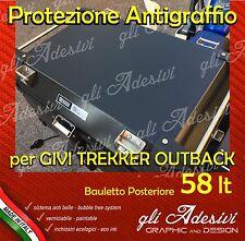 1 Pellicola protettiva nera Bauletto Givi Trekker Outback 58 litri ANTIGRAFFIO