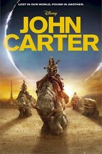 JOHN CARTER ~ ECLIPSE 24x36 MOVIE POSTER Taylor Kitsch NEW/ROLLED!