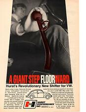 1970 VW / VOLKSWAGEN BEETLE WITH HURST SHIFTER  ~ ORIGINAL PRINT AD