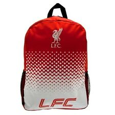 Liverpool FC Official Crested Nylon Backpack School Bag With Mess Side Pockets