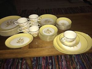 Lot Of 45 Country Service Corporation Alliance Ohio Autumn Gold Dishes