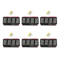 """6Pcs/Set 0.54"""" 4 bit Digital LED Display Module I2C Interface Arduino Red Orange"""