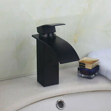 R Deck Mount Single Handle Bathroom Black Basin Faucet One Hole Mixer Tap