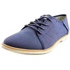 Scarpe da uomo stringhe blu tessile