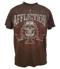 NWT AFFLICTION Brown CAIN VELASQUEZ T-Shirt Mens Medium Short Sleeve UFC MMA