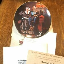 "Norman Rockwell Collector Plate, ""Evening's Ease"" by Knowles with Box/Certifica"