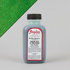 Angelus KELLY GREEN SUEDE DYE 3oz Bottle Industry Strength Dye Vibrant Colors