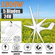 1500w Wind Turbine Generator 5 Blades Charger Controller Windmill Power Dc 12v