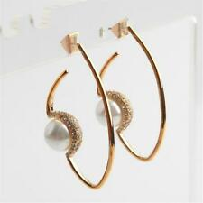 Alexis Bittar Floating Faux Pearl Hoop Earrings