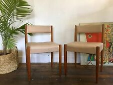 3 x Mid Century Teak Dining Chairs Retro Danish Parker Fler Tessa