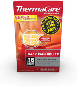 ThermaCare Lower Back Heat Wrap - Pack of 4 Exp 05/23