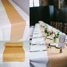 "5 pack Burlap Table Runner 14"" x 72"" 100% JUTE BURLAP TABLE DECOR WEDDING SHOW"