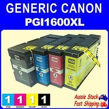 4x Generic Ink 1600XL PGI1600XL for Canon Maxify MB2060 MB2160 MB2360 MB2760