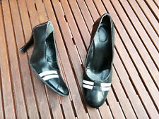 Paul Smith elegante Leder Business Pumps High Heels schwarz weiß 38 Vintage