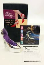 Just The Right Shoe Step Into Your Fantasies Royal Plush Shoe # 25363 Nib