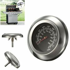 Hot 50~500 Degree Roast Barbecue BBQ Smoker Grill Thermometer Temp Gauge Dia·UK
