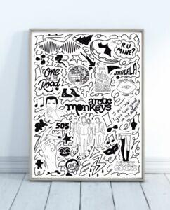 Arctic Monkeys Doodle Print Wall Art
