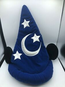 Disney Parks Disneyland Fantasia Sorcerers Mickey Mouse Wizard Hat Adult Size