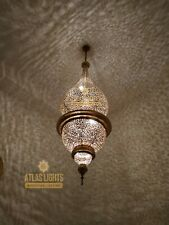 Superb Large Moroccan Brass Chandelie Antique Brass Gorgeous Pendant