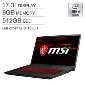 New MSI GF75 10SCSXR-448 17.3'' FHD 144Hz Laptop i5-10300H 8GB 512GB GTX 1650 Ti
