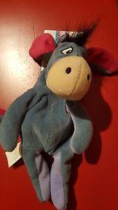 a Disney Eeyore Mini Bean Bag Beanie NWT from Winnie the Pooh