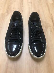 Lanvin Mens Sneakers in Black Suede.